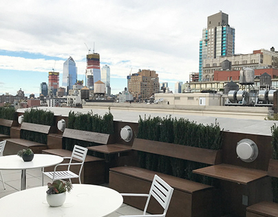 Outdoor custom Terrace for NYC office