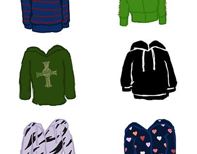 The 2000s in Sweatshirts.
