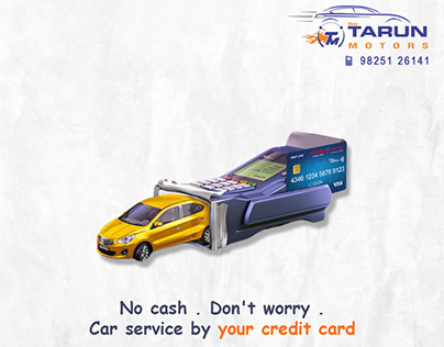 Car Service Advertisement Poster Design