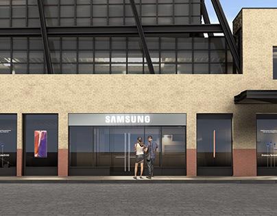 Samsung Flagship Store Window Signage