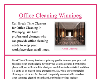 Office Cleaning Winnipeg