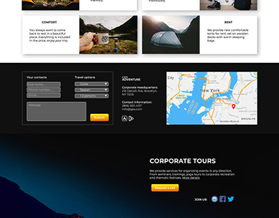 Mountain Camping website design. My first work