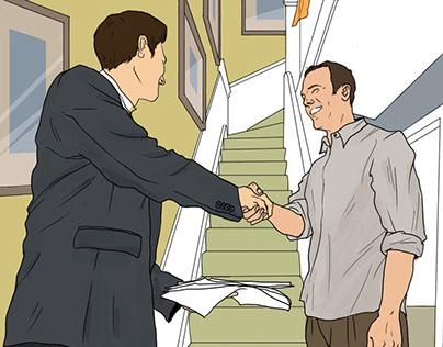Иллюстрации для интернет-журнала о недвижимости