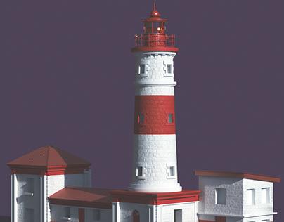 Jamestown Lighthouse 3D Illustration