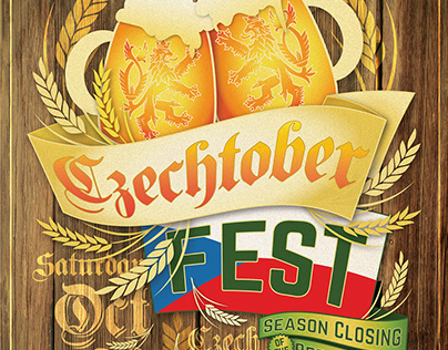 Czechtober Fest poster design + web graphics