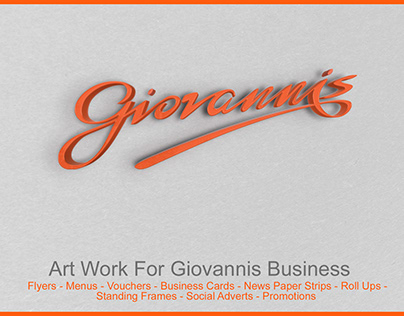 Advertising & Editorials 4 Giovanni's Business (Uk)