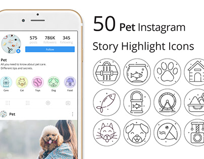 Pet Instagram Story Highlight Icons Pack