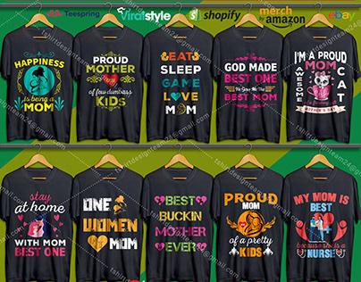 Mother's day t shirt design bundle