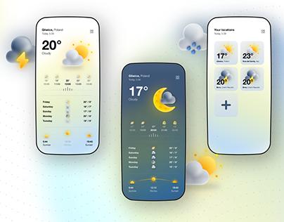 Weather APP / UX&UI / Daily Creative Challenge