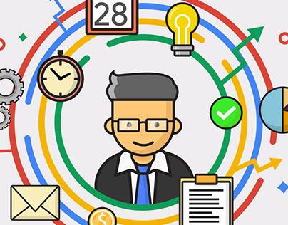 Illustrations for Google Developers Group ,VIT Vellore