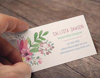 Callista Dawson Design - Rebranding Project