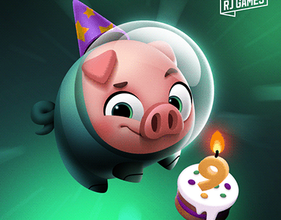 RJ Games birthday card