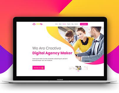 Creative Digital Agency Landing Page
