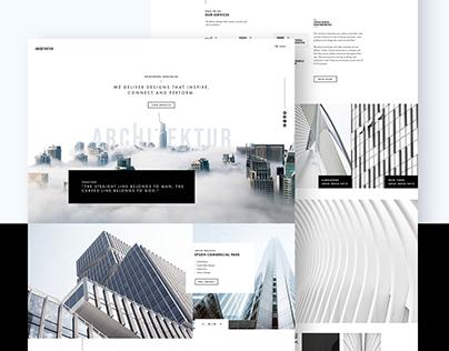 Architektur Homepage Design