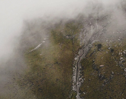 Climbing the volcano story. Drone shooting.