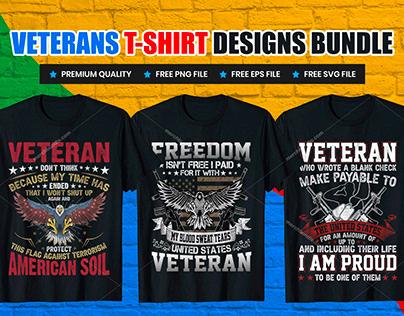 Veterans Day Print Ready Vector T-Shirt Design V.1