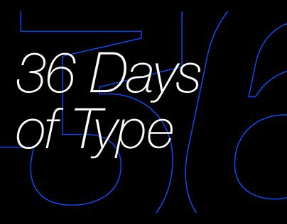 36 Days of Type 2020