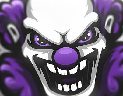 """Insanity"" clown mascot logo (FOR SALE)"