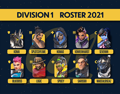 CAL Overwatch Rosters (Spring 2021)