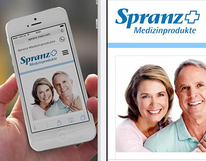 Spranz Medizinprodukte responsive website