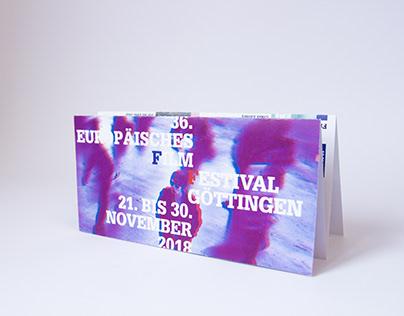 Programmfolder Filmfestival