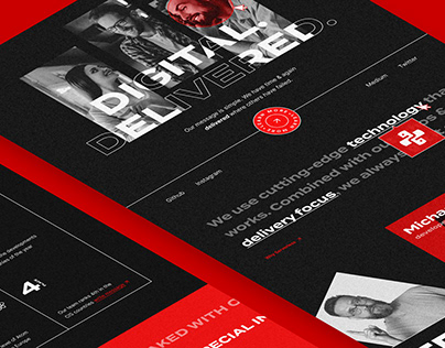Creative/Development Digital Agency Landing page