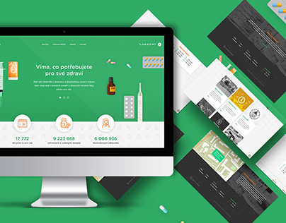 Asklepius / pharmacy visual style and website
