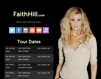 Faith Hill Temporary Splash Page
