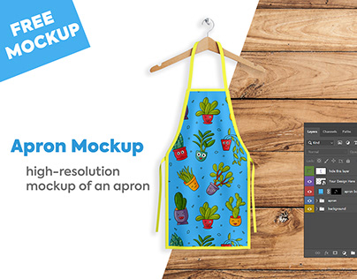 Apron Mockup PSD Free Download