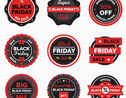 """Free """"Black Friday"""" Banners, Labels and Flyers"""