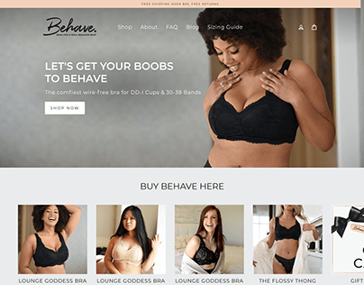 Behave Bras - Shopify