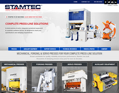 Stamtec website redesign & SEO