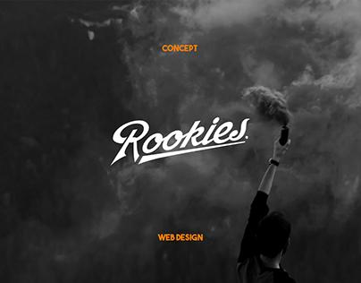Rookies - minimal website concept