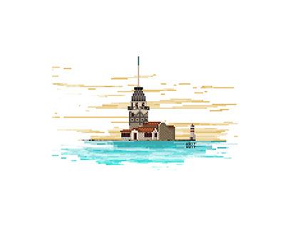 Kız Kulesi / Pixel Art