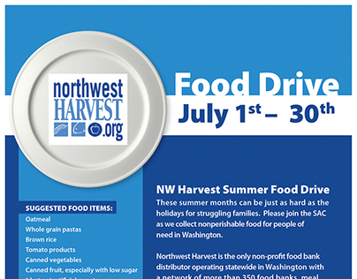 SAC: Summer Food Drive for Northwest Harvest