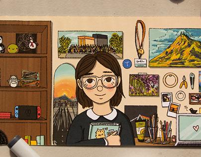 Adobe Blog - Back to School illustrations