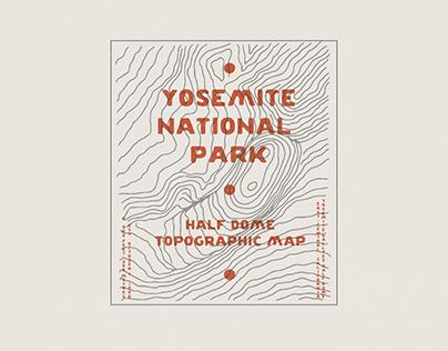 Yosemite Half Dome - Topographic Map