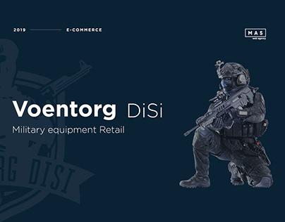 UI/UX Voentorg - military online shop