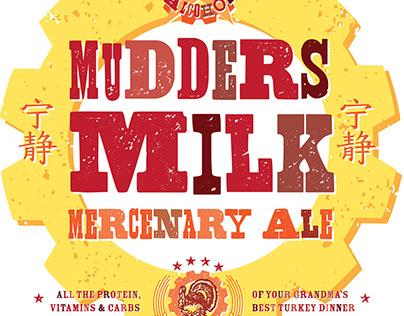 Mudders Milk Mercenary Ale Beer label