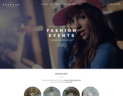Cap ecommerce website