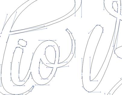 Handlettered logotype-Studio Bardot