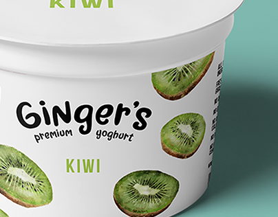 Ginger's Premium Yoghurt - Packaging