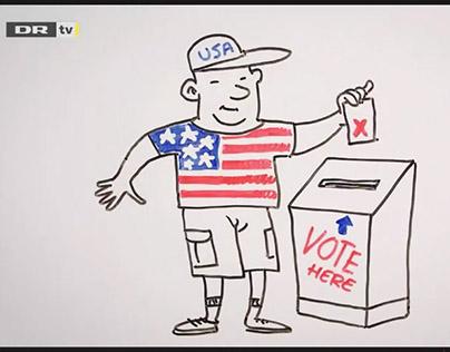 Whiteboard films, US election 2016 (Danmarks Radio)