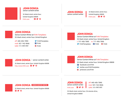best amp professional email signatures template on behance