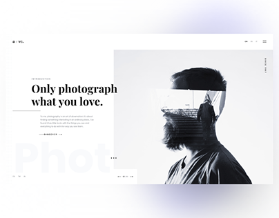 Web site for photographer