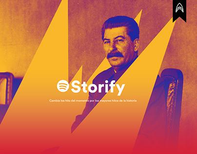 Storify - Podcast históricos para Spotify.