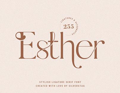 Esther - Stylish Ligature Serif Font