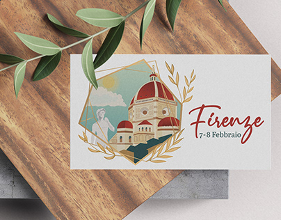 Menu Design for an event in Florence
