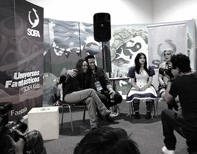 """Conferencia de Prensa en """"SOFA"""" 2015, Bogota Colombia"""