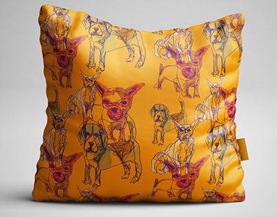 Dog Club - Textile design